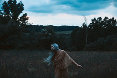 Even the skies scream.  305/365 (aleah michele) Tags: storm sky clouds thrash scream spin twirl run whip blue bluehair nudedress field woods hills burden forgottendreams aleahmichele aleahmichelephotography adventure abandoned 365 365project emotion emotional emerge empty conceptual conceptualportrait concept calm cold chill cloth stormcloud vulnerable victory