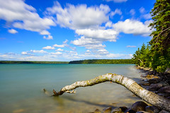 Clear Lake (Nelepl (away)) Tags: longexposure travel summer canada beach water outdoor tranquility manitoba clearlake leisure serene ridingmountainnationalpark wasagaming