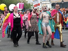 Pride London 2016 - #NOFILTER (Waterford_Man) Tags: nofilter topless girl shirtless pridelondon2016 lgbt lesbian gay bisexual trans people parade