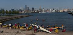 Kayaking on the Hudson River (LennyNJ) Tags: newjersey shoreline nj hudsonriver hoboken kayaks hudsoncounty