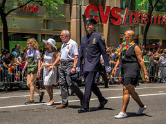 Commissioner Bratton (JMS2) Tags: people newyork march sony nypd parade fifthavenue bratton prideparade2016
