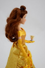 2016 Belle Classic 12'' Doll - US Disney Store Purchase - Deboxed - Standing - Midrange Left Side View (drj1828) Tags: disneystore doll 12inch classicprincessdollcollection 2016 purchase belle beautyandthebeast chip deboxed standing