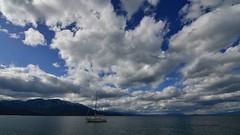 Pope Beach, South lake Tahoe, CA (www.EyePics.net) Tags: california sky usa color horizontal clouds landscape boat wide wideangle bluesky hd manual dynamicrange gaurav southlaketahoe waterscape manualexposure nikond7000 kavathekar wwweyepicsnet