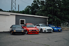 Independence Day (_jonchinn) Tags: blue red white black cars america japanese freedom day flag 4th july patriotic crew german american subaru bmw tts squad m3 independence mazda audi limited miata bbs jdm e30 e30m3 sportscar mx5 roadster vroom konig gdm eunos brz bimer murica jdmgram topmiata