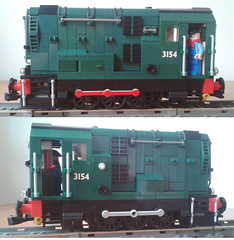 Power Functions 08 BR Shunter (bricktrix) Tags: lego diesel 060 shunter legotrain gronk 08shunter powerfunctions class08shunter