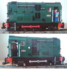 Power Functions 08 BR Shunter (bricktrix) Tags: lego diesel 060 shunter legotrain gronk 08shunter powerfunctions class08shunter