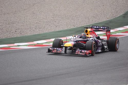 Sebastian Vettel in Free Practice 3 ahead of the 2013 Spanish Grand Prix