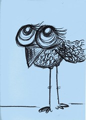 Dreamer (Selva.) Tags: bird art cuento drawing selva doodles bluebird pajaro dibujo dreamer birdy childrenillustration
