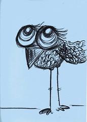 Dreamer (Selva.) Tags: bird art cuento drawing selva doodles bluebird pajaro dibujo dreamer birdy childrenillustration