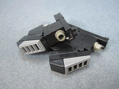 Twin Sub Machine Guns (Messymaru) Tags: original infantry robot lego grunt mecha mech moc