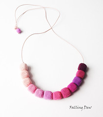 Pink Colour Palette (FallingDew) Tags: necklace jewellery cubebeads