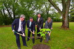 Federal and provincial ministers participate in tree planting ceremony on Pickering Lands on June 13, 2013. (Transport Canada) Tags: ontario airport pickering ministerkent ministerflaherty economicactionplan2012 rougenationalurbanpark pickeringlands mpalexander