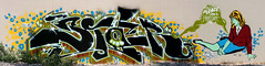 Please Come In Heroin (biafra inc) Tags: wall graffiti stencil paint cities twin spray aerosol biafra sider 4dk