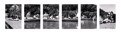Water Babes (epiclectic) Tags: bw lake swimming vintage found suits photos strangers canoe photograph unknown bathing peopleidontknow foundphotos epiclectic imagenhancingbyepiclecticcom