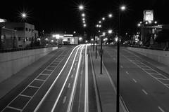 La lumière fut (Pierre-Luc G.) Tags: longexposure blackandwhite bw blackwhite nightlights nightshot montréal montreal perspective streetphotography rosemont canondslr viaduc urbanisme longshot lighttrail nightillumination