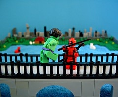 The Merc with a mouth (Big Green Sea Monster) Tags: park dc lego bruce banner central vs hulk marvel deadpool