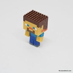 nanoblock Minecraft Steve (inanoblock) Tags: game toy bricks steve diamond instructions blocks block build console tico nanoblock  minecraft nanoblocks