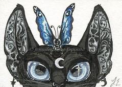 EBAY AUCTION - ACEO Moon Cat (Fancy-Fairytale-World) Tags: cats beautiful atc fairytale cat butterfly blackcat asian feline pretty bast gothic moth egypt fantasy sfa egyptian fancy mystical felines collectible ornate oriental realism bastet miniart moonandstars asiancat egyptiancat dollcat egyptianbastet fancyfairytaleworld