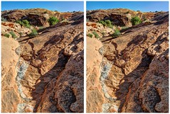 Slickrock Waterway (turbguy - pro) Tags: 3d crosseye stereo archesnationalpark hdr