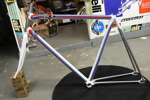 Rex's track bike painted