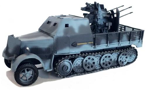 Wespe Sd.Kfz. 7-2 20mm quadrinata antiaerea 1-48
