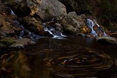 Bear's Den Falls (markvcr) Tags: autumn usa color fall leaves boston ma waterfall leaf massachusetts newengland swirl salem newsalem