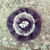 Tweed Brooch (Fleur de Boheme) Tags: winter fashion vintage recycled lace crafts brooch accessories recycling boho corsage bohemian shabbychic textilecrafts lavieboheme textilecraft textilejewellery fleurdeboheme