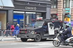 NYPD Piaggio BV200 Scooter & ESU Lenco BearCat (Triborough) Tags: nyc newyorkcity ny newyork manhattan lowermanhattan civiccenter newyorkcounty