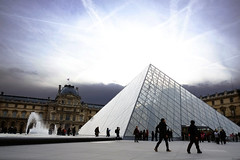 The Louvre Museum in the day (Addixon777) Tags: winter paris museum europe day pyramid louvre