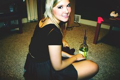 wine time (carleigh~) Tags: party cute love girl drunk happy pretty wine skirt blonde teenager blondehair tumblr tumblrgirl uploaded:by=flickrmobile flickriosapp:filter=nofilter