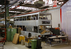 Nearly-finished Spectra (The original SimonB) Tags: film buses construction 2000 factory leeds july scanned spectra optare