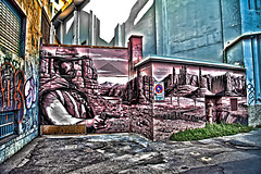 Graffiti /8) (Marco Trovò) Tags: italy graffiti italia milano case canon5d murales lombardia hdr palazzi biciclette zonatortona viasavona marcotrovò marcotrovo