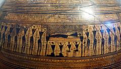 Frieze detail, Dipylon Amphora, c. 755-750 B.C.E.