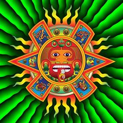 Aztec Sun God