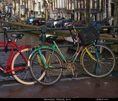 Fargerik (Skurtveit) Tags: bridge holland netherlands amsterdam bike bicycle canal kanal bro sykkel bru