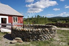 WM Charley MacMartin 3, calf corral, freestanding wall, dry laid stone construction, copyright 2014
