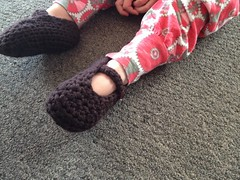 crochet slippers (One Wee Bird) Tags: crochet babyslippers crochetslippers