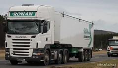 Gerry Ronan Bulk Haulage Scania R420 KX58 MWO (Kilmachalmag) Tags: highland trucks a9 lorries hgv lorrys tomatin invereen
