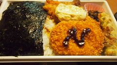 Dinner today (hoshinosuna bega) Tags: food chicken japan dinner year may olympus fried today croquette 2014 conveniencestores p5113385 sevenelevenlaverlunch