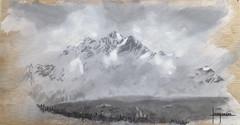 pintura00044 (Joaqunrod) Tags: bw arte suiza drawing nieve paisaje painter dibujo graphite pintura montaas tabla grafito ccuadro