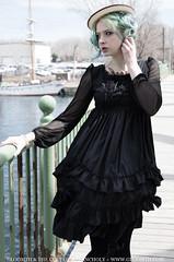 City Doll (gloomth) Tags: city blue urban green fashion hair cityscape gothic goth lolita kawaii gloomth