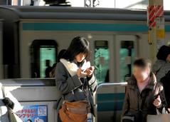 Yokohama station (P2140064) (mr_nihei) Tags: girl beauty station japan train railway yokohama kanagawa