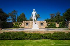 Southern California Michelangelo (RobertCross1 (off and on)) Tags: california ca statue landscape la losangeles glendale cemetary bluesky olympus socal southerncalifornia michelangelo omd forestlawn em5