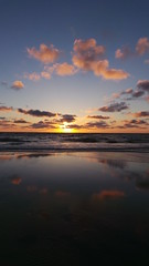Texel beach | Holland (kimberleyvdh) Tags: sunset sea summer sun holland colour beach water clouds mirror sand europe reflect photograph