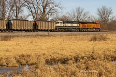 Lucas,Iowa 1/24/2015 (Doug Lambert) Tags: railroad train midwest railway iowa lucas coal hopper railfan bnsf emd 9661 sd70mac es44ac bnsf6434 es55ac