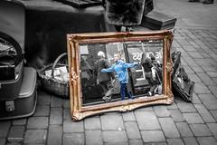 Flying through time (Explored!) (Silver Machine) Tags: street boy bw vintage lumix blackwhite candid streetphotography mirrors hampshire winchester lumixg lumixg20mmf17 vintagestall lumixg5