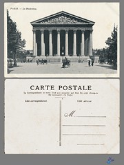PARIS - La Madeleine (bDom) Tags: paris 1900 oldpostcard cartepostale bdom