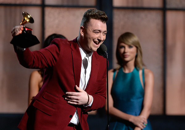 SAM SMITH wins Grammy award for Best New Artist