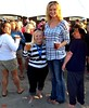 Hot Tall Babe At the Beach 5ft1 vs 6ft4 (iggy62pop2) Tags: people man sexy feet beer female hands funny toes pretty legs small babe lookingup jeans barefoot blonde wife upskirt milf giantess shrinking tallwoman heightcomparison minigiantess