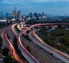 Jakarta Light Painting (framerunner) Tags: indonesia nikon cityscape jakarta cityatnight lighttrail nikond810 nikkor1635mm